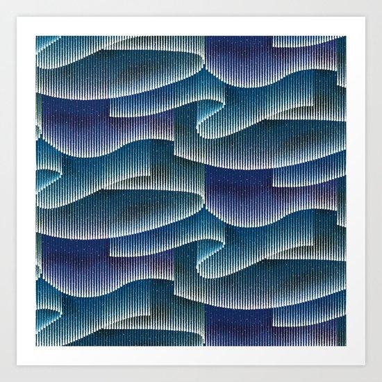 Aurora Borealis_Color Sky Lights Art Print