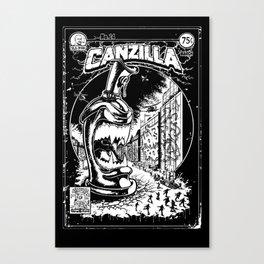 Graffiti - CANZILLA - Retro SciFi Monster Comic Cover Canvas Print