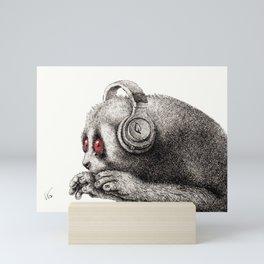 DJ SLOW LORIS Mini Art Print