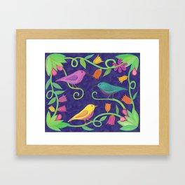 Night Birds Framed Art Print
