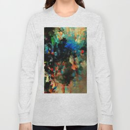 Colorful Landscape Abstract Painting Long Sleeve T-shirt