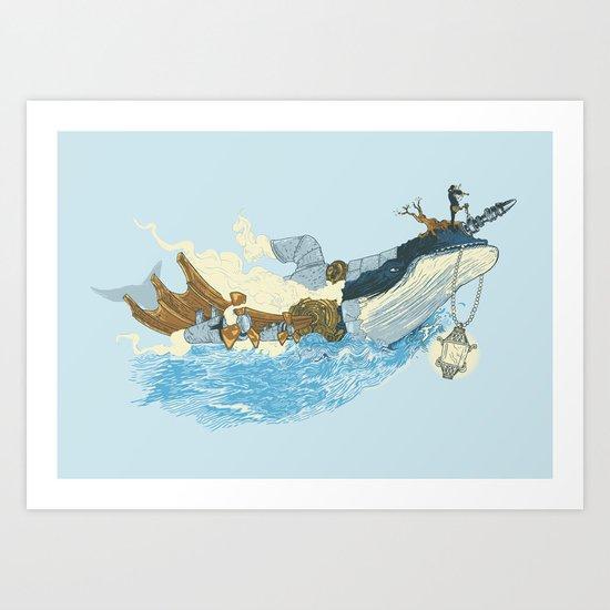 Mythical Rhapsody: King of the Ocean Art Print