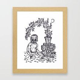 Baby Blocks Framed Art Print