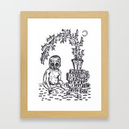 Baby Blocks Framed Art Print