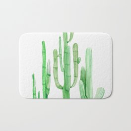 Three Amigos Cacti Green Bath Mat