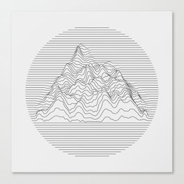 Mountain lines Canvas Print