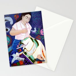 Violeta Parra embroidering life Stationery Cards
