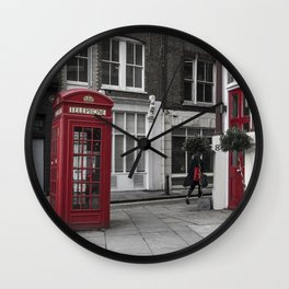 Red is everywhere london street england Wall Clock