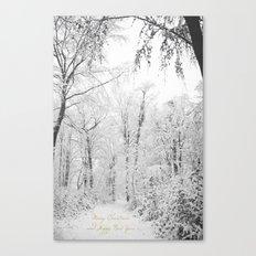 Happy snow Canvas Print