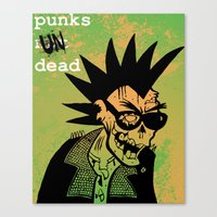 ramones Canvas Prints featuring Punks Undead by alex CADY