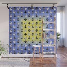 Captain Swan – Lieutenant Duckling pattern Wall Mural