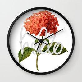 Floral hello Wall Clock