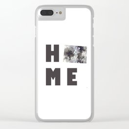 """Wisconson """"HOME"""" Clear iPhone Case"""