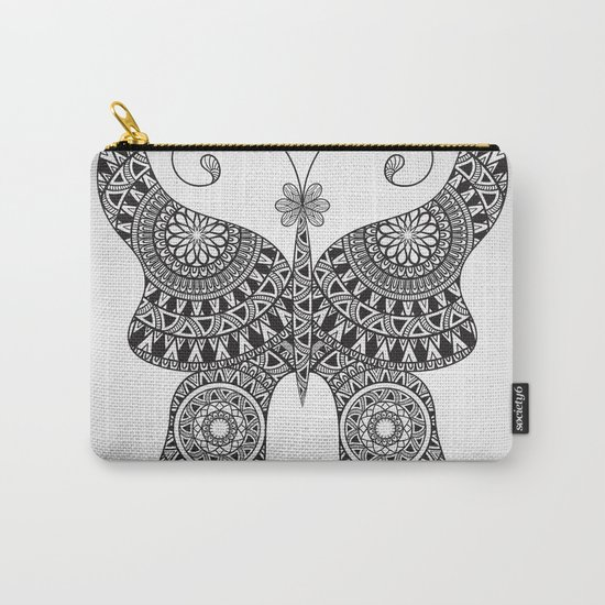 Drawn Butterfly Carry-All Pouch