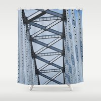 bridge Shower Curtains featuring Bridge by Sarah Shanely Photography