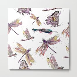 Butterfly & dragons multicolor Metal Print