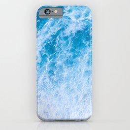 Rough Ocean Blue Waves iPhone Case