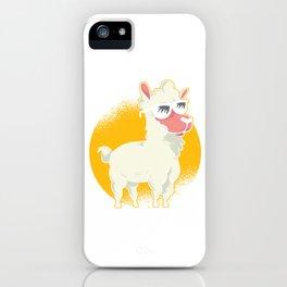Funny Ruminant Mammal Alpaca Guanaco Camel Like Animal Wildlife Llama Nature Gift iPhone Case