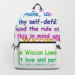 The Wiccan Rede Backpack