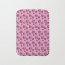 Pink flowers pattern Bath Mat