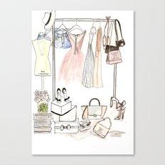 Closet Canvas Print