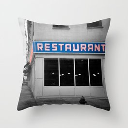 Toms Diner NYC Throw Pillow