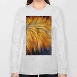 Cool brown textured animal horse tail fur design Long Sleeve T-shirt