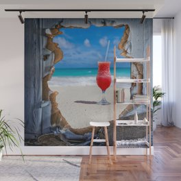 Surreal Window view Wall Mural
