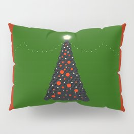 Christmas Tree with Glowing Star Pillow Sham