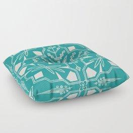 Turquoise Batik Floor Pillow