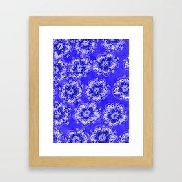 Blue Autumn Violet Framed Art Print