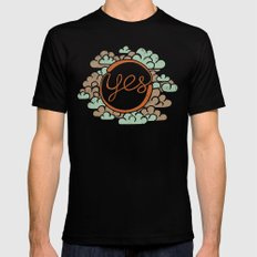 yes X-LARGE Mens Fitted Tee Black