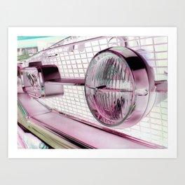 Negative Pink Art Print