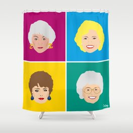 The Golden Girls - Pop Art Style Shower Curtain