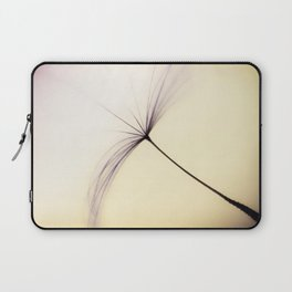 Whispered Wishes on a Dandelion Seed Laptop Sleeve