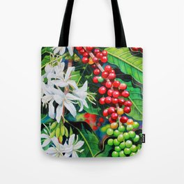 Mountain Thunder Coffee Flowers and Coffee Cherries Tote Bag