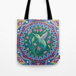 Hummingbird Mandala Tote Bag