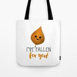 I've Fallen For You - Autumn Leaf Tote Bag