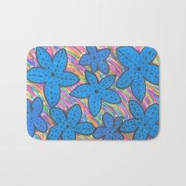 Rainbow Bright Blue Starfish Bath Mat