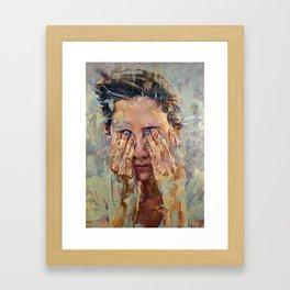 blue nails Framed Art Print