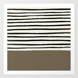Cappuccino x Stripes Art Print