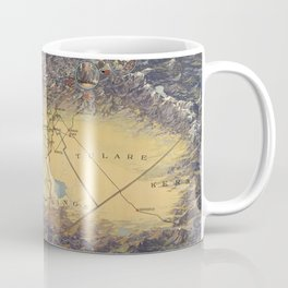 Vintage Map of Fresno California (1919) Coffee Mug