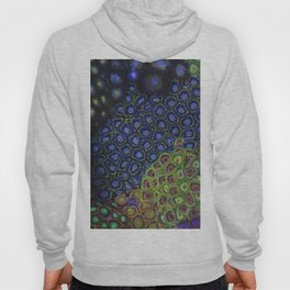 """Macro of Coral Zoanthus """"Blue Hornet"""" Hoody"""