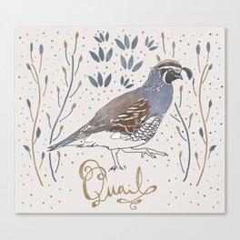 Quail Canvas Print