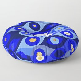 Greek Mati Mataki - Matiasma Evil Eye blues Floor Pillow