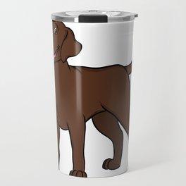 Happy Chocolate Lab Travel Mug