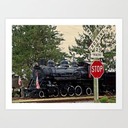 Girabaldi Train Art Print