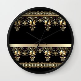 Gold East. Wall Clock
