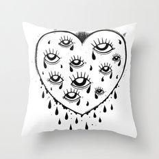 Eyes heart you Throw Pillow