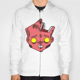 two faced morphed head Hoody